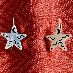HTF Silpada W0130 Sterling Silver Star Earrings